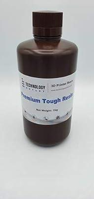 Technology Outlet Premium 3d Printer Tough Resin (solid Black 1ltr)