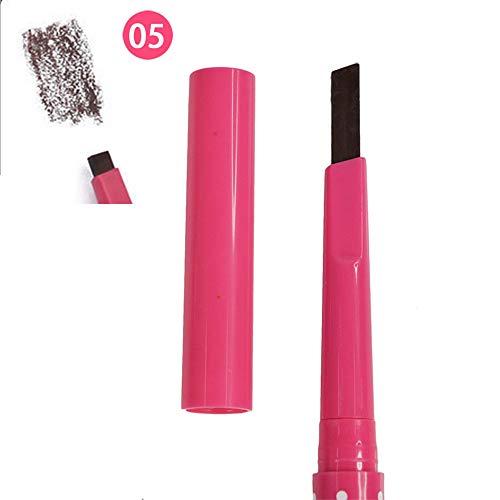 Crayon à sourcils imperméable et durable pratique 5 couleurs en option pour le maquillage automatique des yeux Outils Noir Café Gris
