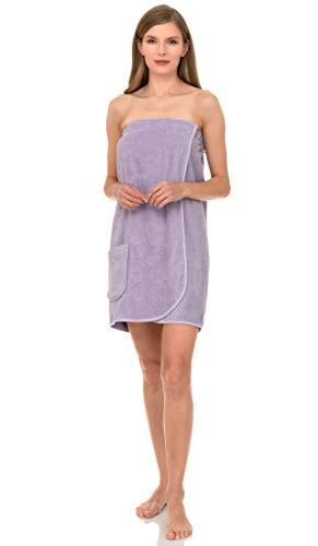 TowelSelections Women's Wrap, Shower & Bath, Terry Spa Towel X-Large Orchid Petal