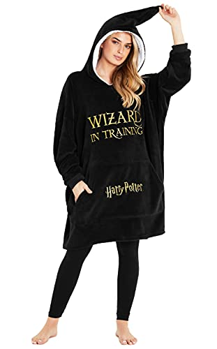 Harry Potter Sudadera Mujer Con Capucha, Sudaderas Mujer De Forro Polar, Manta Sudadera Gigante, Regalos Harry Potter Mujeres
