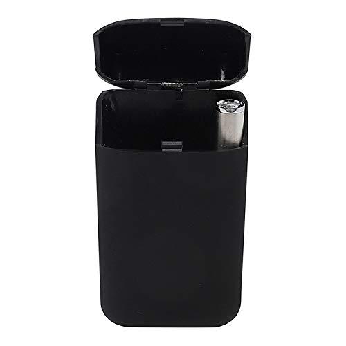 Elektronischer Zigarettenanzünder + Metall-Zigarettenetui, USB-Lade-Elektronik-Feuerzeug, multifunktionale Zigaretten-Aufbewahrungsbox/Herren-Werbegeschenk, schwarz