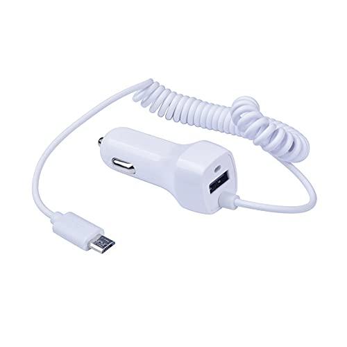 iSpchen Cargador de Coche con Cable Micro USB Cargador de Coche Portátil USB Adaptador de Cargador de Coche Universal Adaptador de Cargador Rápido