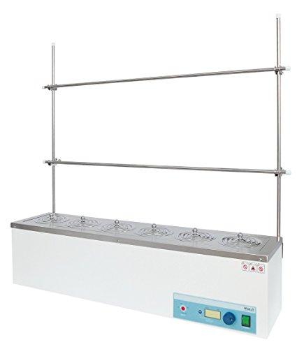 Witeg seriewaterbad WEB-6 6 plaatsen Ø110 mm 100 °C, inclusief dekselset en frame, ideaal voor extractie, soxhlet-extractie en COD-bepaling
