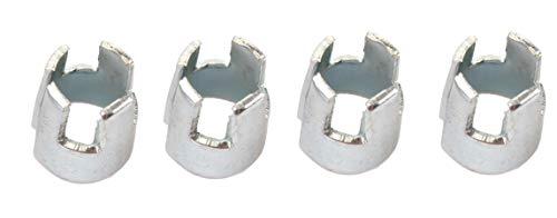 Bull´s Shaftkrone Silber für Nylonshaft, 56802, 1 Satz = 3 Stück