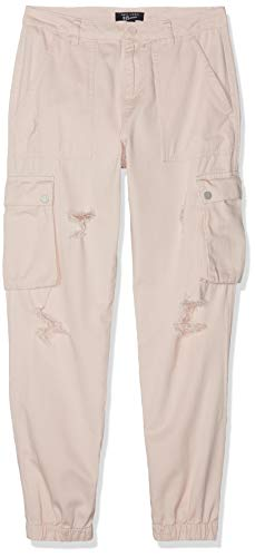 New Look 915 Jackie Ripped Cargo Pantalones, Rosa (Light...