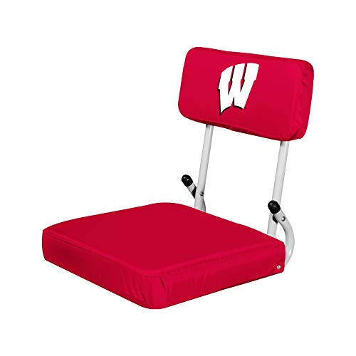 NCAA Wisconsin Badgers Hard Back Stadium Seat, 13.5