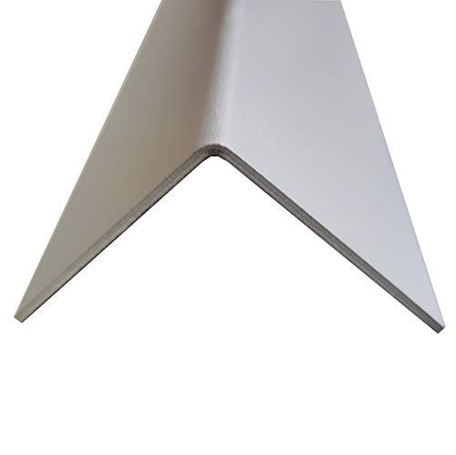 1x Alu Winkel Profil Aluminium eloxiert Schenkel 25x25mm Länge 2000mm 2,0mm Winkelprofil Kantenschutz L-Profil Eckschiene Eckenschutz Metallwinkel Leistenprofil Profile