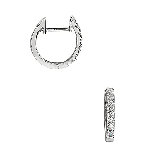 Aris Diamond - Pendientes de aro para mujer con