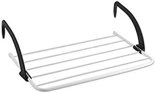 SHKY Rack de Secado de Ropa (Plegable), para Colgar en los radiadores o en el balcón, para Espacio de Secado Adicional para el balcón Interior al Aire Libre,Black,L