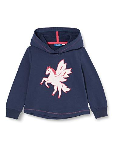 Sanetta Mädchen Sweatshirt Nordic Blue Kapuzensweatshirt Kidswear in Dunkelblau mit besonderem Artwork und lässigem Schnitt fällt sofort auf, blau, 122