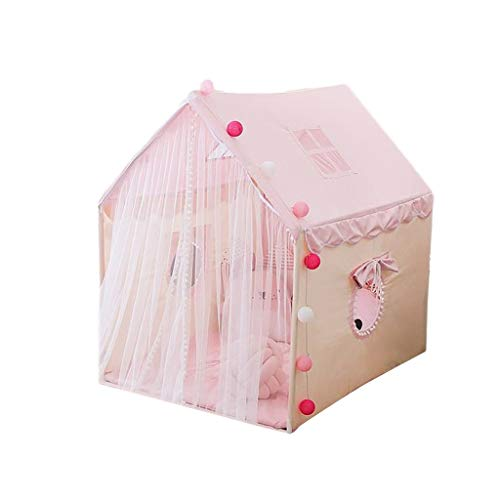 HWZPPP KJZhu Tiendas de campaña Tiendas Rosa Hut, Princesa Cubierta Tiendas del Juego de la Base Secreta de la Muchacha con Mats, Dreamtale Tent - Crece la Tiendas for bebés y los niños Plegable