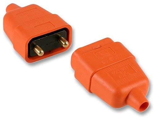 Pro Elec ? 2 broches Connecteur In-Line en caoutchouc, 10 A Orange