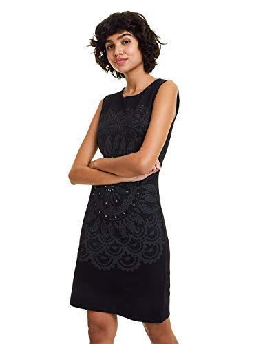 Desigual Damen Dress IGRITTE Kleid, Schwarz (Negro 2000), X-Large (Herstellergröße: XL)