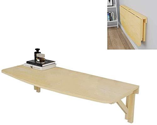 ZFSWMY Wand- Klapptisch Massivholz Klapptisch Wandtisch Esstisch Computer Table Studie Schreibtisch Wandtische Wand- Klapptisch, 80cm * 50cm (Color : 80cm*40cm)