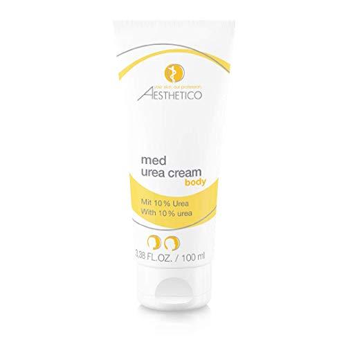 AESTHETICO med urea cream - Feuchtigkeitsbinder für trockene Hautstellen am Körper, auch bei Neurodermitis, mit Urea, für Hand, Fuß, Schienbeine, Ellbogen, 100 ml