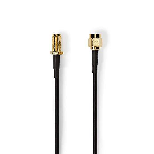Preisvergleich Produktbild Antennenkabel / SMA-Stecker (Umgekehrte Polung) - SMA-Buchse (umgekehrte Polung) / 1, 0 m / Schwarz