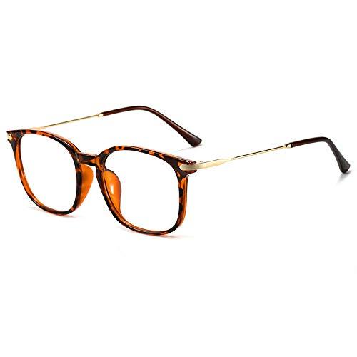 Gafas De Sol,Gafas De Luz Anti-Azul Para Mujer, Gafas Planas Literarias Retro Para Hombre Que Se Pueden Equipar Con Montura De Gafas De Miopía, Montura De Carey C3