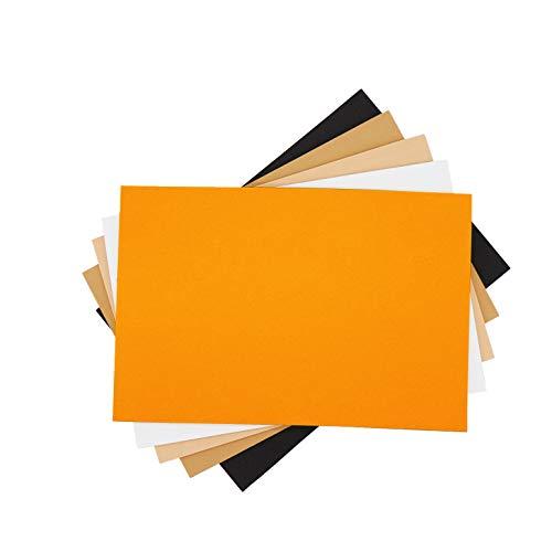 Conform Home Papel Goma Eva y Fieltro, varios tipos, A4 para Decorar, Diseñar y Manualidades. (5 Goma Eva 5mm Lisa A SIN Adhesivo)