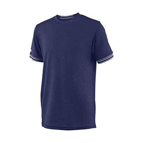 Wilson Camiseta de tenis de manga corta para niño, B Team Solid...