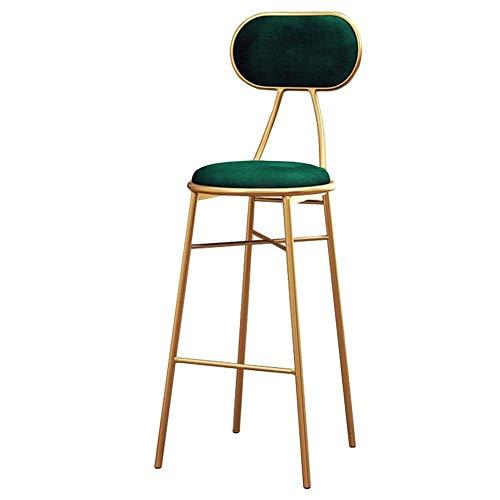 Barkruk goud metalen frame dining stoel moderne, gevoerde hoge stoel, voor keuken en ontbijt