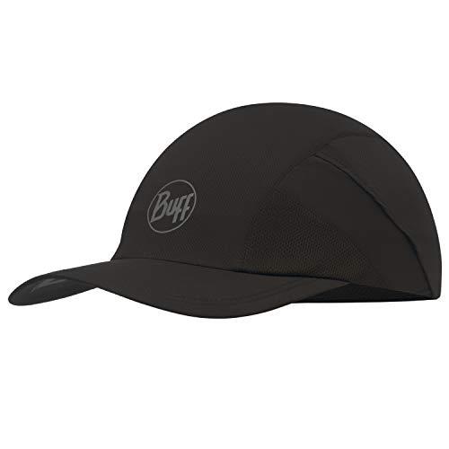 Buff Pro Run Cap Lauf Schirmmütze | UV-Schutz | Laufen | Joggen | Sportmütze | Sport-Kappy + Ultrapower Schlauchtuch | Schirmmütze R-Solid Black - 117226.999.10.00