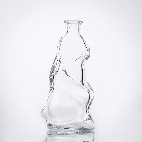 Flaschenbauer Glasflasche Osterhase: 6 Mini Glasflaschen mit Korken verwendbar als Ostergeschenk, kleine Flaschen zum Befüllen, Leere Schnapsflaschen klein oder Oster Deko Flaschen