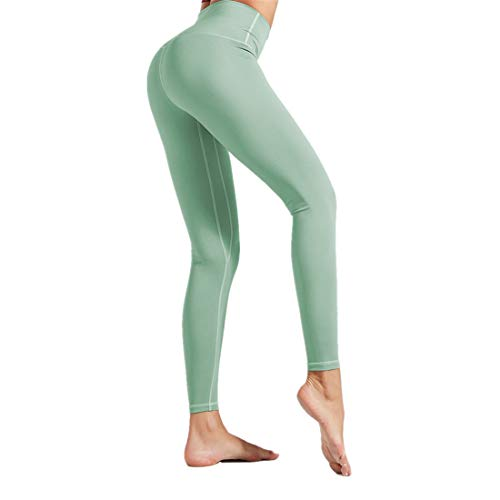 Fyj Women's Leggings Women Compression Yoga Pants High Waist Running Tights Jogging Leggings Stretchy Trousers Non See Through Yoga Pants for Gym, Cycling, Yoga, Running, Daily Leisure 2020 M