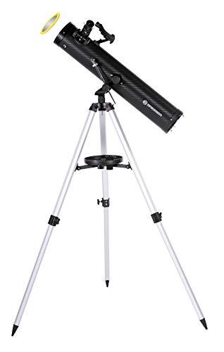 Bresser Venus 76/700 AZ - Telescopio reflector con Adaptador de Cámara de Smartphone