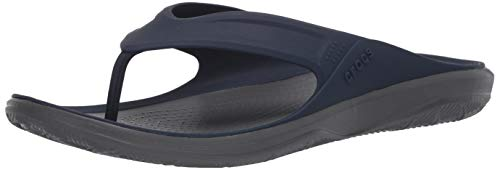 Crocs Swiftwater Wave Flip Men, Infradito Uomo, Blu (Navy/Slate Grey), 41 EU