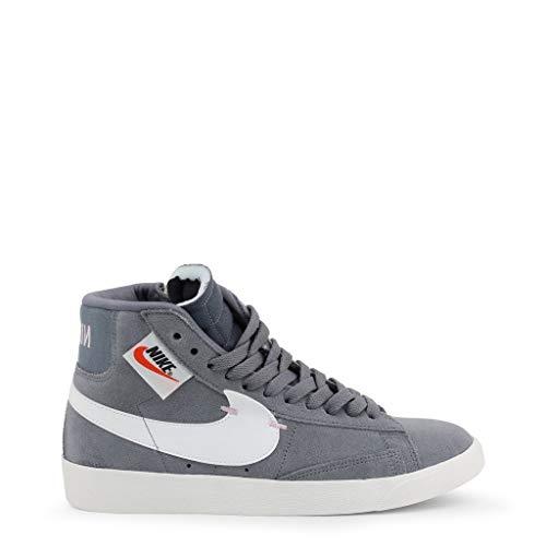 Nike Blazer MID Rebel dames sneaker van grijs suède BQ4022-004