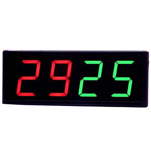 JTRHD Marcador portátil Puntuación electrónica Pantalla de anotación de Baloncesto LED Puntuación electrónica portátil Recargable para Tenis de Mesa Baloncesto (Color : Black, Size : 31x12cm)