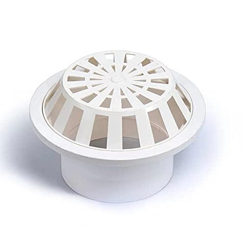 SXXYZY Drenaje de piso al aire libre del techo de drenaje de la lluvia redonda cubo de drenaje transpirable tapa de ventilación de plástico de techo
