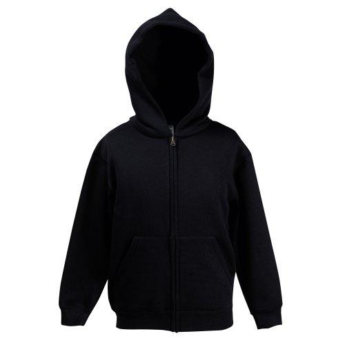 Classic Hooded Sweatjacke Kids - Farbe: Black - Größe: 128 (7-8)