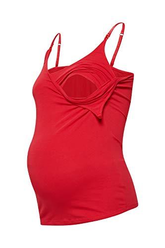 ESPRIT Maternity Damen Spaghetti top Nursing Umstandstop, Rot (Red 630), 36 (Herstellergröße: S)