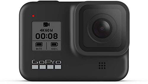 GoPro HERO8 Black Waterproof Action Camera with Touch Screen 4K Ultra HD Video 12MP Photos 1080p Live with Accessoy Bundle + 2 Extra GoPro USA Batteries Total 3 + Sandisk 64GB MicroSD U3 + Ritz Reader
