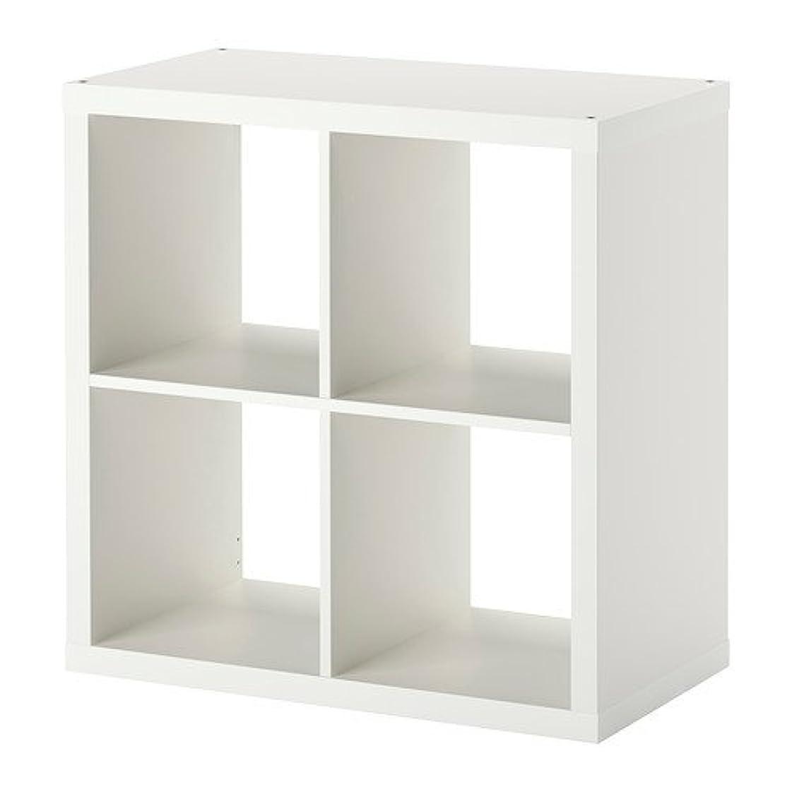 隔離分解する性交IKEA KALLAX シェルフユニット ホワイト 77×77cm 30275842