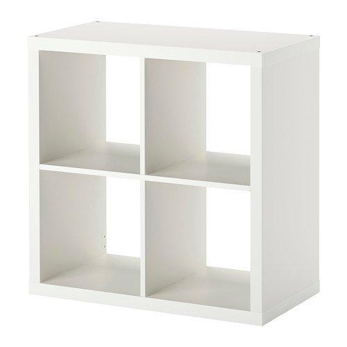 Kallax Estantería de IKEA Librería, cestas o boxes-77X 77cm (Brillante), Color Blanco