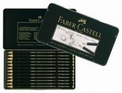 Faber Castell Art & Design Graphite Lot de 9000 en boîte métal. 12-count