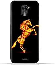 infinix Hot 4 Pro X556 TPU Silicone Protective Case with Horse On Flame Design
