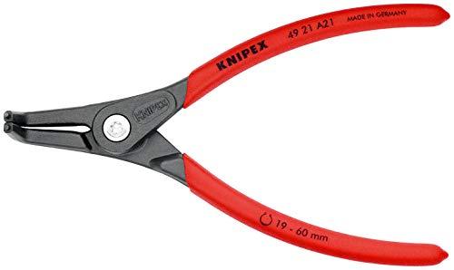 KNIPEX 49 21 A21 Präzisions-Sicherungsringzange für Außenringe auf Wellen grau atramentiert mit rutschhemmendem Kunststoff überzogen 165 mm