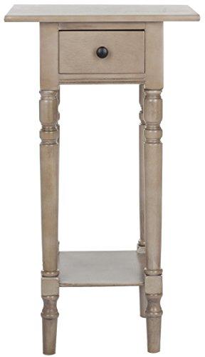 Safavieh EUH5704 Beistelltisch, Holz, Grau, 44 x 35 x 81.02 cm