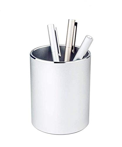 Metal Pencil Holders,Pen Holder Round Aluminum Desktop Organizer and Cup Storage Box for Office,School,Home 3.9×3.1 inch