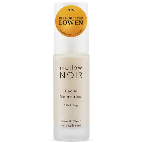 mellow NOIR Facial Moisturizer | 24h Feuchtigkeit | vegan, klimaneutral & clean | 30 ml Gesichtscreme für Damen & Männer | zertifizierte Naturkosmetik Feuchtigkeitscreme für das Gesicht