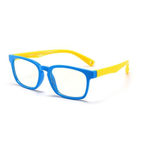 Suertree Anti Blaulicht Brille Kinder Blaulichtfilter Gläser für Computer,TV,Online-Unterricht Brillengestell blue frame