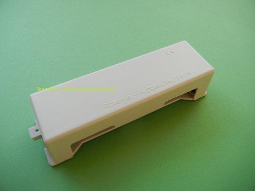 Potentialausgleichschiene Potischiene mit 7 Klemmen 2,5 - 16 mm² Erdungsband und Rundleiter