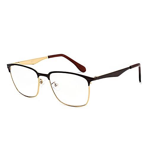 CAOXN Gafas De Lectura Progresivas Multifocales para Hombres, Gafas De Sol con Lentes De Resina Polarizadas Fotocromáticas para Exteriores UV400, Dioptrías +1.0 A +3.0,Marrón,+2.50