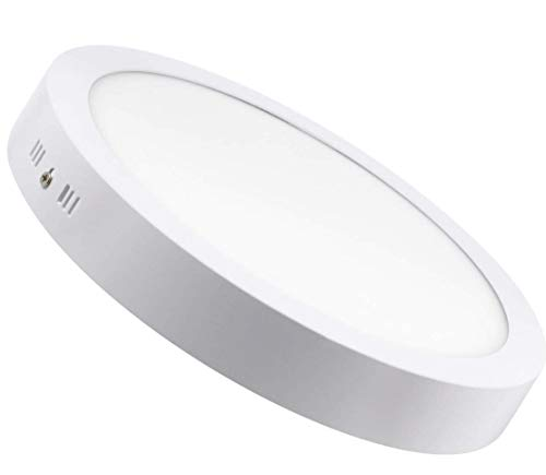 Lampara Plafon Superficie LED Redondo 18W. Color Blanco Frío (6500K). 1600 Lumenes. Driver incluido. A++