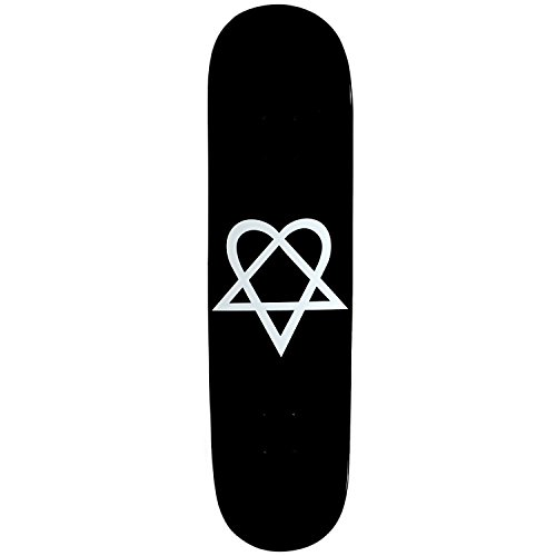 KSS Heartagram Skateboard Deck, Black, 7.63""