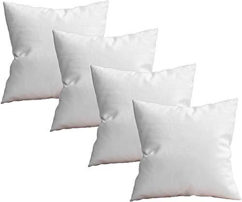 4 Rellenos de Cojines de 50x50 Varias Medidas, Fibra, Costuras internas. Relleno para Cojines de Gran Densidad y Volumen para Cojines de sofás, Camas, Suaves e indeformables (50x50cm)