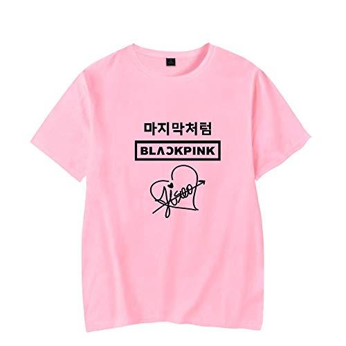 IUGENQL Blackpink Camiseta Cuello Redondo Camiseta acogedora Personalidad Impreso Manera Corta Ocio Moda Unisex